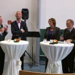 Podiumsdiskussion mit Prof. Dr. Heinz Elmar Tenorth, Prof. Dr. Olaf Köller und Bildungsministerin Britta Ernst.