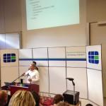 BYOD-Vortrag, Christoph Olsen am Rednerpult